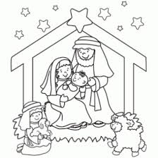 nativity story coloring pages funycoloring