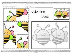 valentine u0027s day cut and paste puzzles free by kidsparkz tpt