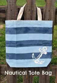 nautical tote nautical striped tote bag latta creations