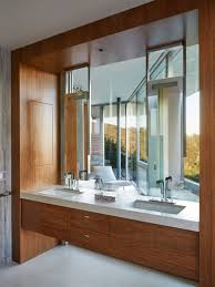 interior design tips of modern bathroom vanity with natural view