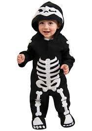 infant toddler skeleton costume
