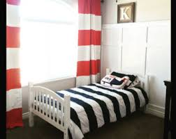 Red White Striped Curtains Red Stripe Curtains Etsy