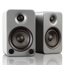 Modern Speaker by Yu3 Powered Bookshelf Speakers Steel Kanto Touch Of Modern