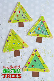 popsicle stick christmas trees make and takes