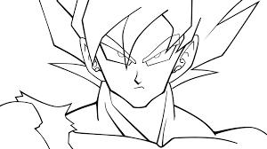 imagenes de goku para dibujar faciles con color como dibujar a goku buscar con google dibujos pinterest goku