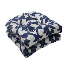 pillow perfect bosco polyester navy tufted outdoor wicker seat