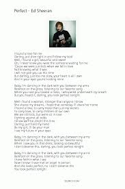 ed sheeran perfect text ed sheeran perfect lyrics pdf 12lyrics