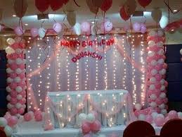 Decoration Ideas For Naming Ceremony Birthday Party Balloon Decoration In Tumkur Santosh Events