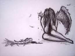 drawn angel broken angel pencil and in color drawn angel broken