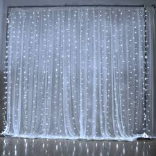 amazon com curtain light ucharge led icicle christmas lights