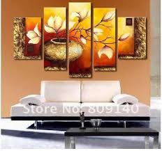 decor painting painting oil painting red tulip free shipping oil painting on canvas