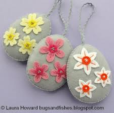 felt easter eggs bugs and fishes by lupin flowers felt easter egg ornaments