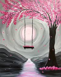 Spring Painting Ideas | paint nite drink paint party we host painting events at local