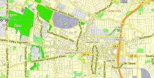 Map Portland Or by Portland Or Vancouver Wa Pdf Map Exact Vector Street G View