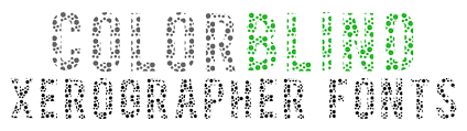 Color Blind Design Color Blind Font Dafont Com