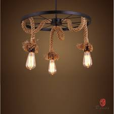 Diy Hanging Light Fixtures Dynasty Decorative Loft Style Diy Pendant L Rope