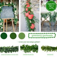 greenery wedding garlands create your own unique mix greenery