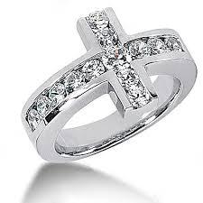 wedding rings cross images Diamond jewellery diamond engagement rings with crosses jpg