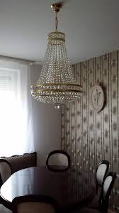 dining room crystal chandeliers hanging crystal chandelier in the ceiling over dining table add
