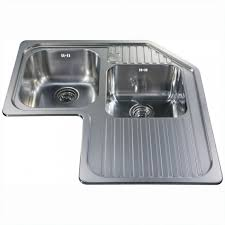 Blanco 440180 by Corner Double Bowl Sink Right Hand Drainer Stainless Steel
