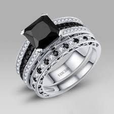 vancaro wedding rings black and white cubic zirconia 925 sterling silver s wedding