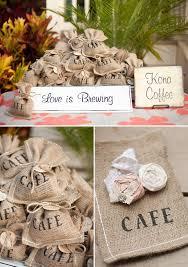 coffee wedding favors diy wedding in hawaii