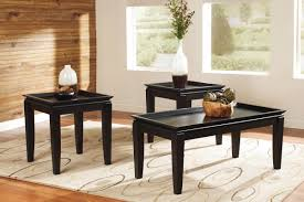 black tray cocktail table u0026 2 end tables