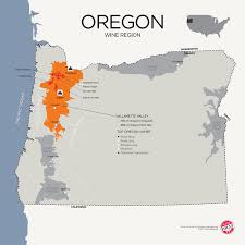 map of oregon wineries a guide to learning oregon pinot noir wine folly