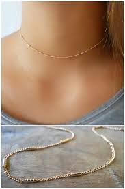 gold chain collar necklace images Dainty chain choker necklace simple gold choker necklace jpg