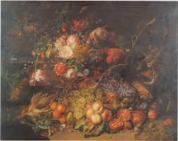 fruit and flowers file ruysch fruit and flowers in a forest 1714 jpg