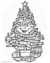 christmas tree coloring page fantastic 99d debbiegeorgatos