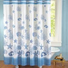 Seashell Shower Curtains 2 Pc Coastal Seashell Shower Curtain Rug Nautical Seaside