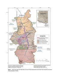 Arizona Rivers Map by Map Of The Upper San Pedro Basin And The Sierra Vista Subwatershed