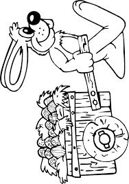 printable easter coloring easter bunny pulling wagon eggs