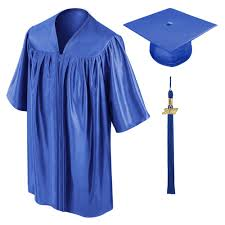 graduation caps and gowns royal blue preschool cap gown tassel gradshop