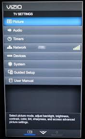 reset vizio tv network settings vizio e55 c2 55 inch smart led lcd tv review supplement photos
