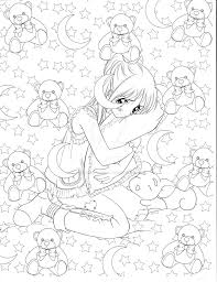 beautiful manga coloring images printable coloring pages