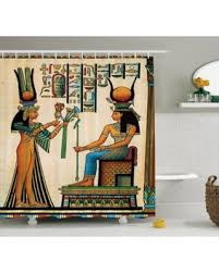 Shower Curtains Sets For Bathrooms by Check Out These Bargains On Egyptian Decor Shower Curtain Set Old