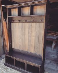 hall tree bench hall tree locker foyer free shipping country rustic cottage