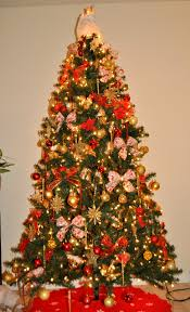 red and gold christmas tree decorations ideas house design ideas