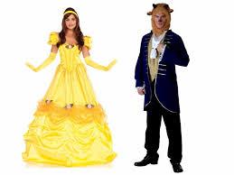 Beauty Beast Halloween Costumes Creative Disney Halloween Costumes Wearing