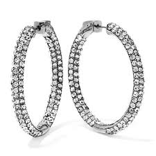 inside out diamond hoop earrings joan boyce pavé inside out 1 3 8 hoop earrings 7533422