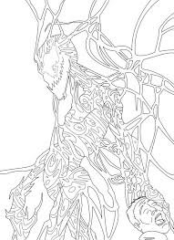 drawn spiderman carnage coloring page pencil and in color drawn