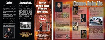 Volunteer Brochure Template by Firefighters Needed Store