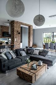 Living Room Ideas With Grey Sofa by Best 25 Industrial Living Rooms Ideas On Pinterest Loft Living