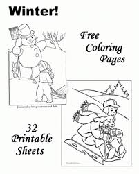 free printable winter coloring pages to inspire to color an image