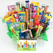 Candy Basket Birthday Wishes Candy Bouquet
