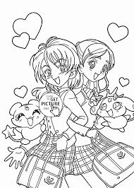 funny pretty cure anime coloring page for kids manga anime