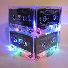 retro 80s and 90s mixtape night light lamp cassette tape mood