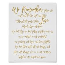 wedding memorial sign chic lettered wedding cards gifts sign zazzle
